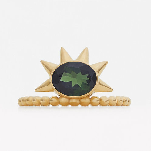 Spike Green Tourmaline Ring