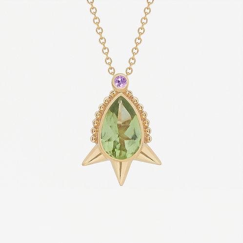 Small Pear Peridot Necklace