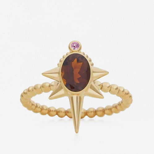 Oval Brown Tourmaline Ring