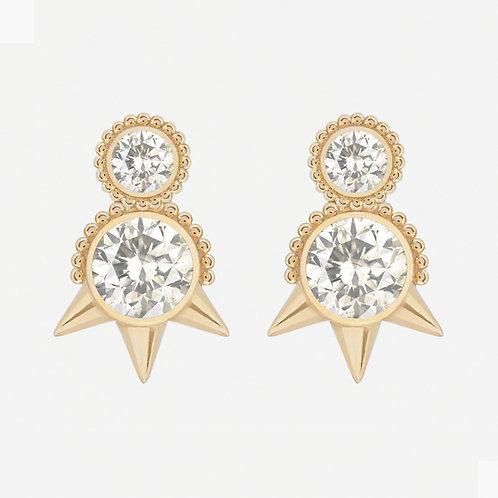 Round White Sapphires Studs