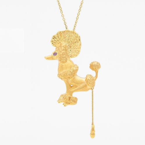 Punk Gold Poodle necklace