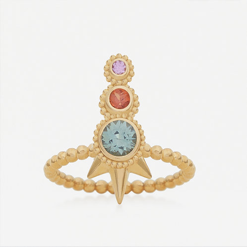 Round Fancy Sapphires Ring