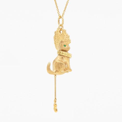 Punk Gold Cat necklace