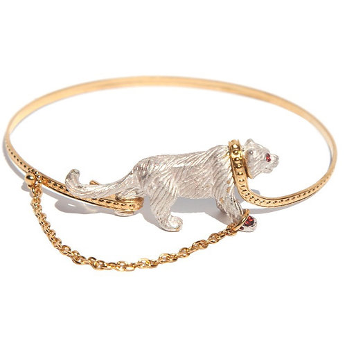 Captive White Tiger bangle