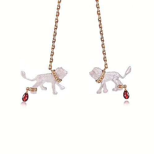 Captive White Lions necklace
