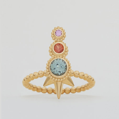 Spike Three Sapphires Ring