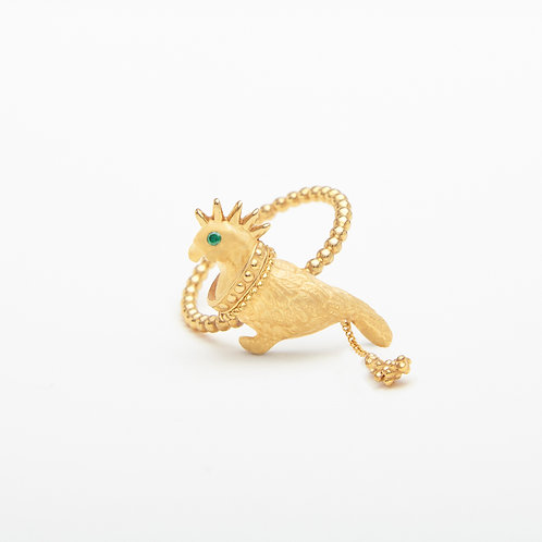 Punk Gold  Pigeon Ring