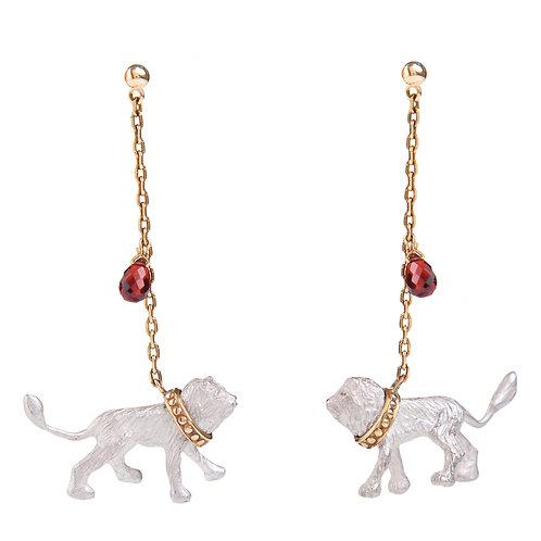 Captive White Lions earrings