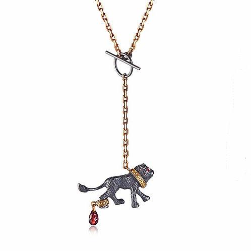 Captive Black Lion necklace