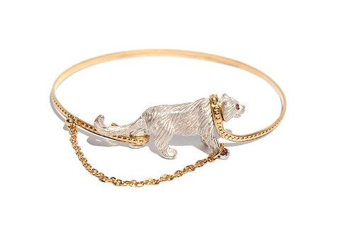 Captive White Tiger bangle