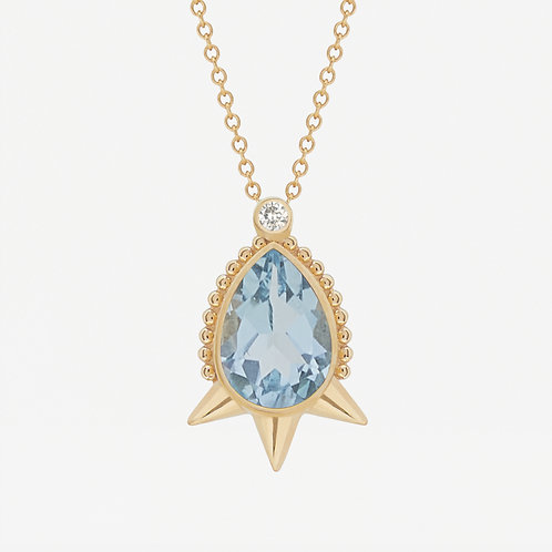 Large Pear Topaz Necklace