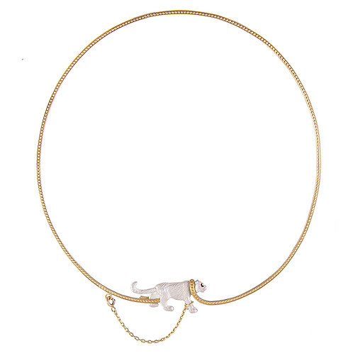Captive White Tiger necklace