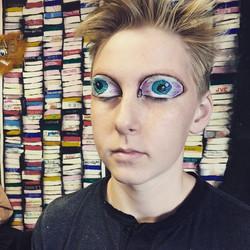 #eyeballs #openyoureyes #allseeingeyes  #crazymakeup #eyes #paintedeyes #crazykids #weird #weirdo #e