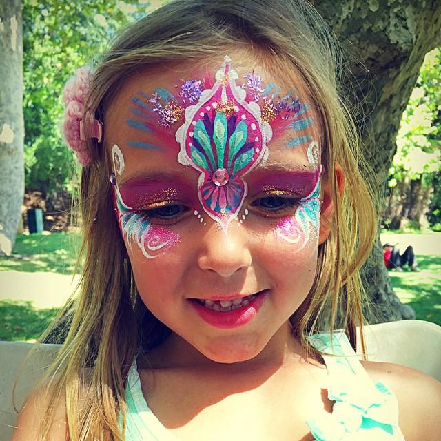 #princess #facepainting #cute #adorable  #birthdayparty #kidsfacepainting #colorful  #Facepainter #L