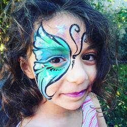 Birthday #FacePaint fun in #valleyvillage 💠☯💕_#kidsfacepainting #lafacepainter #kidsfacepainter #b