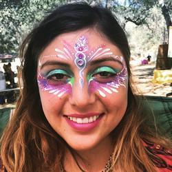 #beautiful #bohemian #festival #princess #sparkles #glitter #thirdeye #chakractivating #facepainting