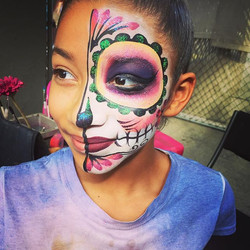 #SugarSkull #facepaint #cuteness ‼️💕💀🎀💟 #dayofthedead #diadelosmuertos #facepainting #halloweenm