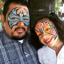 #uncleandniece having a great time getting #facepainted