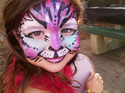 Lil tiger from today's birthday party in the Palisades _)