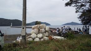 海の日、近家灯台周辺クリーン大作戦。