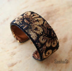 Golden Flowers Cuff