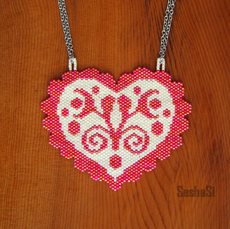 Heart Necklace Folklore Collection
