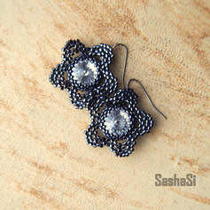 Crystal Flowers Earrings