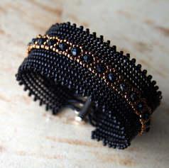Black Beaded Cauff