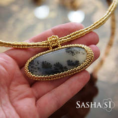 Wood Opal Necklace