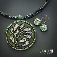 Silver and Green Set