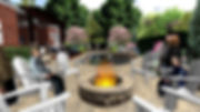 This is an amazing custom outdoor space designed by Knoxville Land Design, and features a stone fire pit, begard brick paver patio, custom gunite swimming pool and spa, timber frame pergolas, and complete landscaping.  knoxville landscape design, landscape design knoxville tn, landscape architects knoxville tn, hardscape design knoxville tn, hardscape installation knoxville, stone masonry knoxville