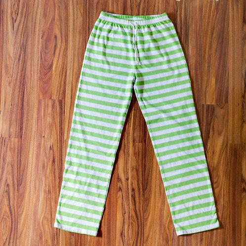 Lime Striped Adult Christmas Pajama Pants