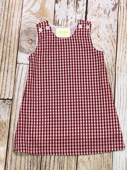 Girls Gingham A Line Dress