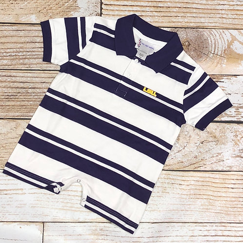 LSU Short Sleeve Boys Romper