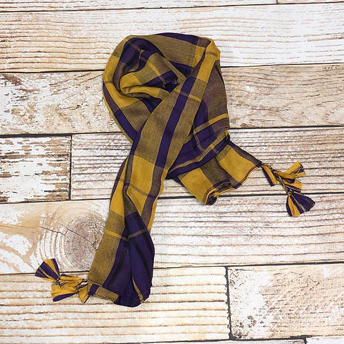 Purple and Yellow Scarf