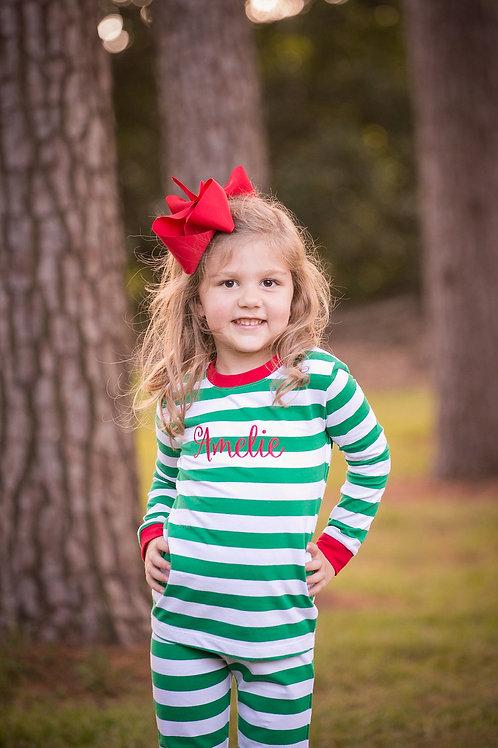 Kelly Striped Christmas Pajamas
