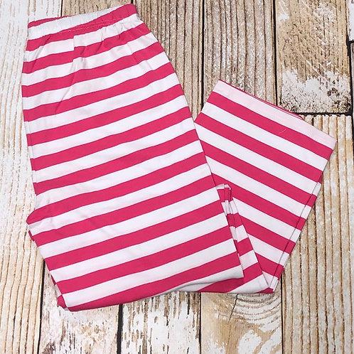 Pink Stripe Adult Christmas Pajama Pants