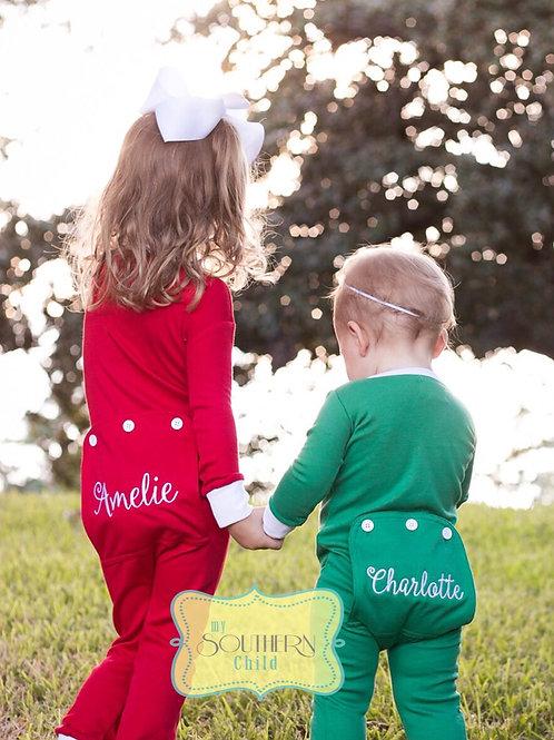 Green Holly Jolly PJs