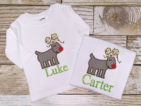 Reindeer Applique Shirt
