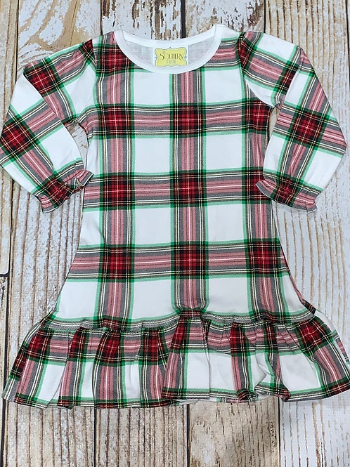 Plaid Christmas Gown