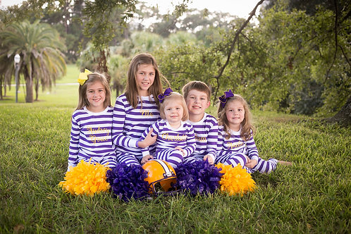 Purple Striped Pajamas