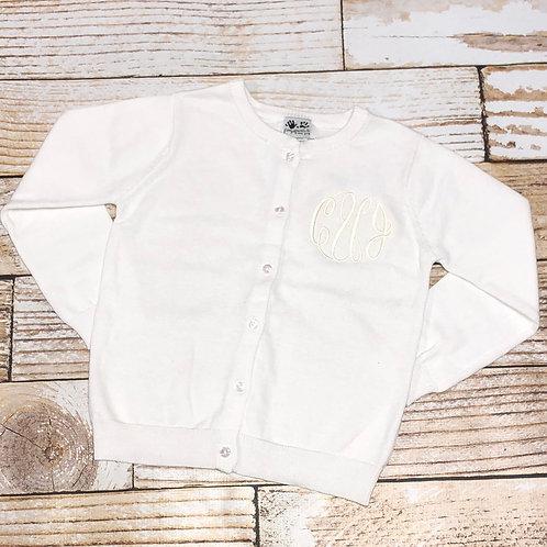 White Monogram Sweater