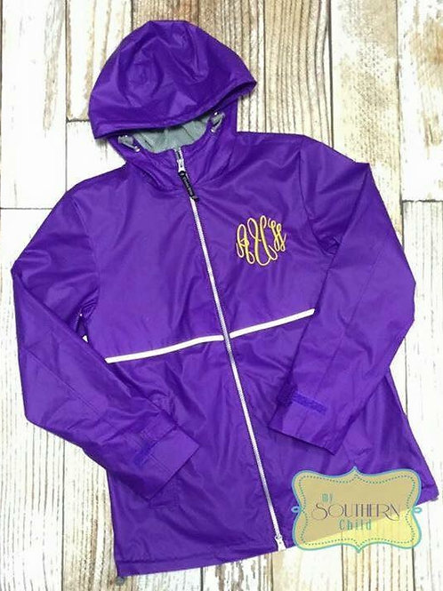 Rain Jacket Add Monogram