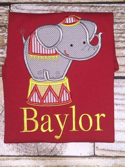 Circus Elephant Applique