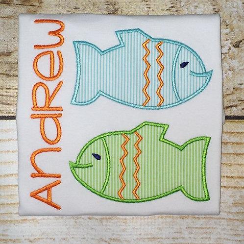 2 Fish Applique