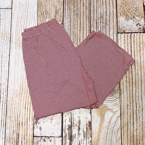 Red Micro Stripe Adult Christmas Pajama Pants