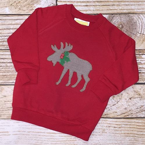 Moose Applique Sweatshirt