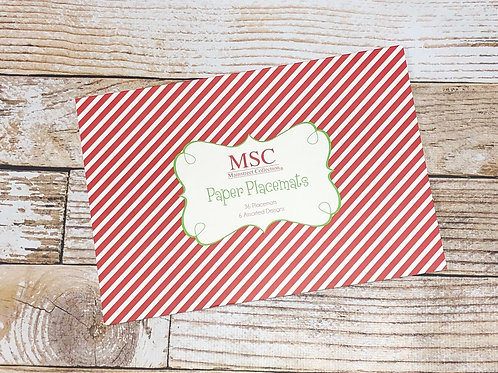 Christmas Paper Placemat Pads