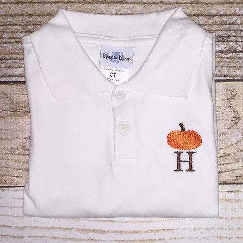 Pumpkin Mini-Design Polo