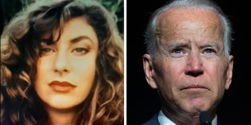 Tara Reade and former Vice President Joe Biden (Photo Credit: Time)